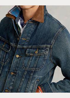 Denim Trucker Jacket Casual Winter, Winter Style, Vest, Ralph Lauren, Denim, Jackets, Clothes, Down Jackets, Outfits