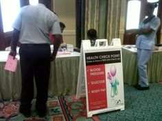 The Sparman Clinic provided free health checks to all who were interested at Accra Beach Hotel Health Fair, Barbados.