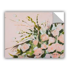 ArtWall ArtAppealz Melissa Lyons's 'Peach Floral' Removable Wall Art Mural