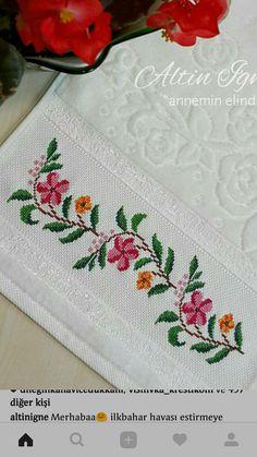 Cross Stitch Borders, Cross Stitch Flowers, Crochet Bedspread, Crewel Embroidery, Shabby Chic, Bath Towels & Washcloths, Cross Stitch Rose, Cross Stitch Embroidery, Crochet Pillow