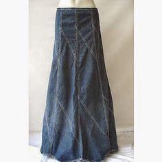 تنانير طويلة جينز | مجلة جمال حواء