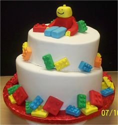 Lego birthday cake..without the funky looking guy...