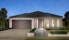 House Facade Single Story Australia For 2019 Modern House Facades, Modern Architecture House, Modern House Plans, Modern House Design, Facade Design, Exterior Design, Rendered Houses, Australian Homes, Exterior House Colors