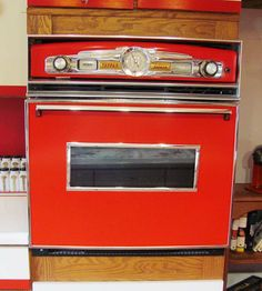 built-in-oven-red