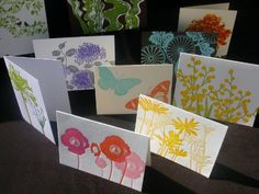 Assorted letterpress cards by Busara Teuber of Ilee Papergoods #Meetourstars #OOAKX11 #Starpicks
