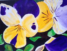 Violas 12x9 inch acrylic on box canvas. By Chubby Peacock . Find me on Facebook