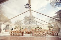 Tent Wedding Reception by Viridian Design Studio.