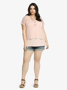 Mesh Polka Dot Top | Torrid