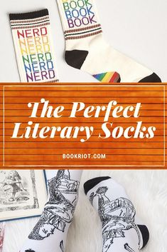 Pop on these literary socks and let the whole world know you're a book lover. book socks | gifts for readers | bookish gifts | literary socks | gifts for librarians | gifts for book lovers