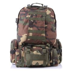 46.90$  Watch more here - http://ai41g.worlditems.win/all/product.php?id=32605104092 - 2015 Hot 50L Molle Tactical Assault Outdoor Military Rucksacks Backpack hiking Camping Bag Large Amy travel back pack women men