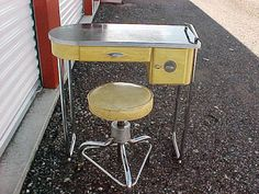 Vintage 1930s Royal Art Deco Manicure Table with Stool Chrome Vanity | eBay