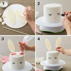 How to Make a Five Layer Easter Bunny Cake