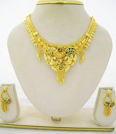 Peacock Meenakari Gold Plated Necklace Earring Jewelry Set