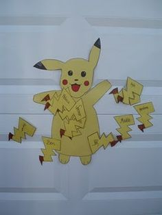 Pin the tail on the Pikachu - Fun after spinning