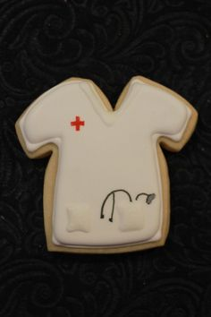Cute nurse cookies!! I have to remember to make these for mom!