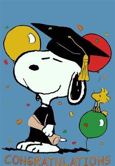 Image result for snoopy graduation clip art