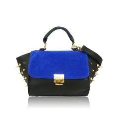 Anna Smith Black & Cobalt Blue Diamante Stud Micro Bag £39 #cobaltblue #ss14 #bagenvy #bags #newin