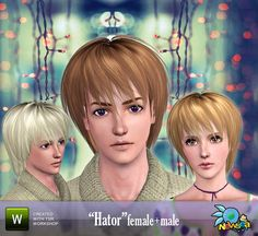 Hator Male and Female Hair by Newsea  http://www.thesimsresource.com/downloads/956895