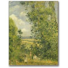 Trademark Fine Art A Rest In The Meadow Canvas Wall Art by Camille Pissaro, Size: 18 x 24, Multicolor