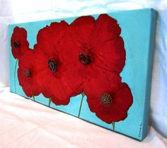 Love this pop of turquoise to go in my red kitchen.