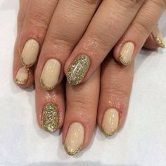 .@WAH Nails | Getting ready for the party season with gold glitter by WAH girl Keshia! | Webstagram