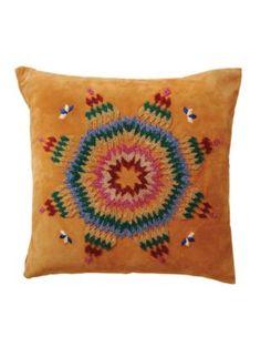 beaded suede pendleton pillow
