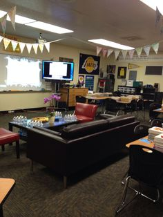 My desk-less classroom. Designed to inspire collaboration.