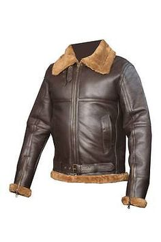 6ec474f9aef Men s Aviator RAF B3 Ginger Shearling Sheepskin Leather Bomber Flying Jacket  Aviation