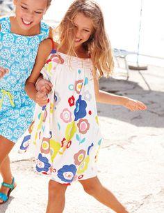 Floral fun in a pure cotton dress! £18.20 #MiniBoden #Boden