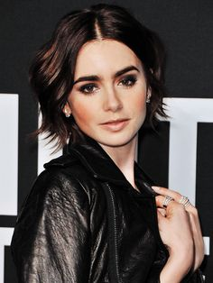 Lily Collins - Saint Laurent Show in Los Angeles