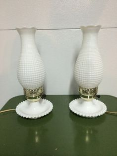 Vintage Milk Glass Lamp by BettyandRio on Etsy, $36.00 i just have the bottoms of the lamps