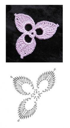 Beginner Crochet - How to Crochet Cape Free Pattern Crochet Butterfly Pattern, Crochet Leaf Patterns, Crochet Leaves, Crochet Motifs, Crochet Diagram, Freeform Crochet, Thread Crochet, Crochet Designs, Crochet Doilies