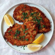 This classic chicken Schnitzel recipe sounds harder to make than it is. Plus, you get to pound out the day's stress on a boneless, skinless chicken breast.