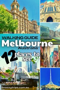 Planning to visit Melbourne oneday? There are so many beautiful, fun and interesting aspects of the city. Here I'm going to share with you 12 must-see places in Melbourne that give you an appreciation of the city's architecture, street art, laneways, river and more. They can all be visited in an easy one-day walking tour. #melbournewalk #melbourneguide #melbourneblog #mustseemelbourne #snazzytrips Perth, Brisbane, Sydney, Beautiful Places To Visit, Cool Places To Visit, Places To Travel, Travel Destinations, Amazing Places, Visit Australia