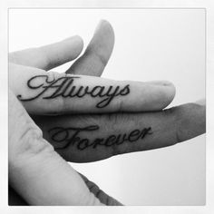 http://tattoomagz.com/romantic-couples-tattoo/always-forever-couples-tattoo/