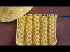 Her Örgüye Uyan Model - knitting for babies Knitting Stiches, Knitting Videos, Knitting Charts, Crochet Videos, Baby Knitting Patterns, Knitting Designs, Crochet Patterns, Crochet Quilt, Tunisian Crochet