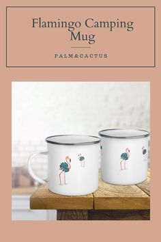 Get ready for your roadtrips this summer with your metal travel mugs.Perfect for your morning coffee or to eat your cereals. The essential for camping. #roadtrip #metalmug #flamingo #tropicalmug #enamelmug #campingmug #rvlovers #rvessentials #vanlife Tropical Mugs, Flamingo Gifts, Teal And Pink, Camping Essentials, Travel Mugs, Van Life, Morning Coffee, Road Trip, Retro