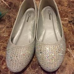 Silver bling flats! New! Bought them for a specific occasion, but did not wear them! Shoes Flats & Loafers