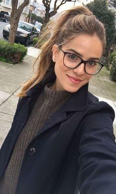 This feminine, stylish eyeglasses frame suits many face shapes!