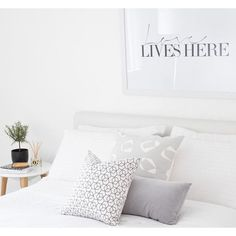 Bedroom love | stunning grey pillow collection