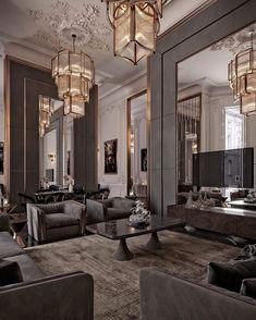 Dream House Interior, Luxury Homes Interior, Dream Home Design, Luxury Home Decor, Modern Interior Design, House Design, Luxurious Bedrooms, Modern Bedroom, Bedroom Black