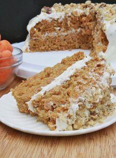 Moist & Fluffy Gluten-Free Carrot Cake Recipe from Divas Can Cook Gluten Free Carrot Cake, Gluten Free Deserts, Gluten Free Sweets, Gluten Free Cakes, Foods With Gluten, Gluten Free Cooking, Dairy Free Recipes, Gluten Free Birthday Cake, Carrot Cakes