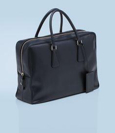 Prada : Saffiano Calf Leather Briefcase - $1750