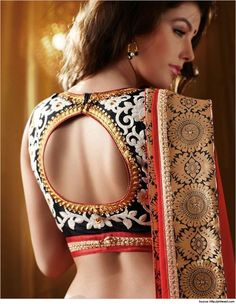 Sensuous yet #Traditional #Blouse Adorned with Gold Work #Blousebackdesigns