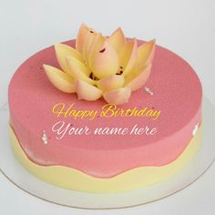 Strawberry Birthday Cake With Lotus For Sister Flowers