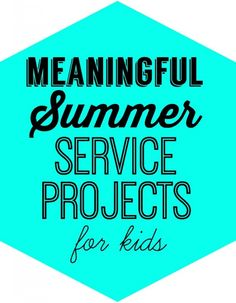 Meaningful Summer Service Projects for Kids on Design Dazzle