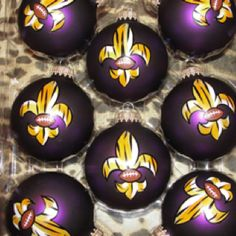 Hand Painted Ornaments Geaux Tigers