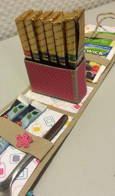 Laura's Creative Moments: YOU'RE TEA-RIFFIC - MERCI GIFT BOX TUTORIAL