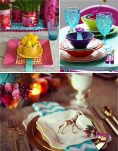 Acrescente cor aos seus dias! #colorfull #tables