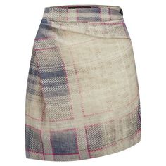 Vivienne Westwood Anglomania Women's Isolation Tartan Skirt - Grey (52665 RSD) ❤ liked on Polyvore